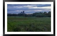 Ely Cathedral at Dusk, Framed Mounted Print