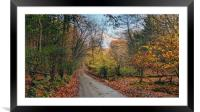 Autumn on the Weald, Framed Mounted Print
