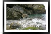 Rocky shore, Framed Mounted Print