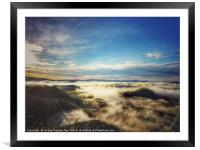 Foggy Moutain in Trai mat, Dalat city, Framed Mounted Print