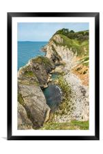 Stair Hole at Lulworth Cove, Framed Mounted Print