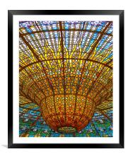Palace of Catalan Music, Framed Mounted Print