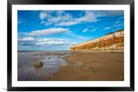Hunstanton Cliffs Norfolk, Framed Mounted Print