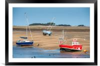 Wells next the sea boats, Framed Mounted Print