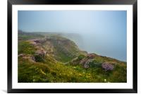 Clifftops at Bedruthan Steps , Framed Mounted Print