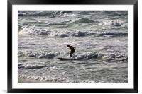 lone surfer, Framed Mounted Print