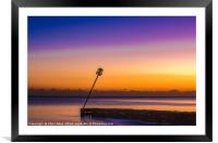 Sunset at Worthing Seafront, Framed Mounted Print