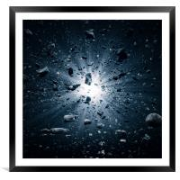 Big Bang explosion in space, Framed Mounted Print