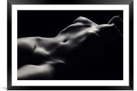 Nude woman bodyscape 47, Framed Mounted Print