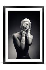 Woman in bandages, Framed Mounted Print