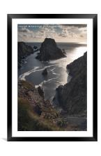 Dont look down , Framed Mounted Print