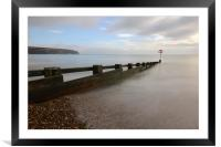 Beach groyne, Swanage., Framed Mounted Print