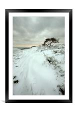 Quarry Hill Snowscape, Framed Mounted Print
