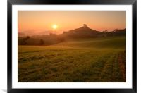 Dewy Morning at Colmer's Hill, Framed Mounted Print