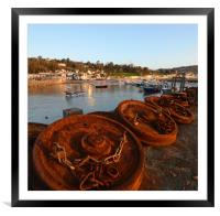 Along the Harbour Wall, Framed Mounted Print