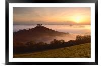 Colmer's Hill, Framed Mounted Print