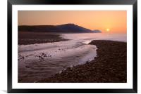 View to Golden Cap, Framed Mounted Print