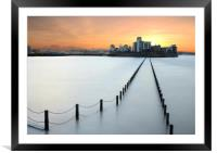 Weston-super-Sunrise, Framed Mounted Print