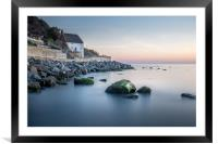 Runswick Bay Fisherman's Cottage on the North East, Framed Mounted Print