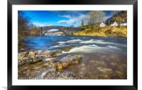 The Bridge of Orchy, Framed Mounted Print