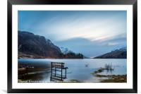 Waterlogged Bench, Loch Shiel, Framed Mounted Print