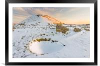 Cairnpapple in the Snow, Framed Mounted Print