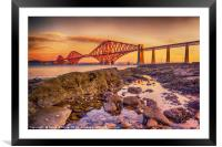 Sunrise over the Forth Bridge, Framed Mounted Print