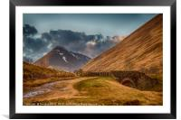 The Old Military Road Out Of Tyndrum, Framed Mounted Print