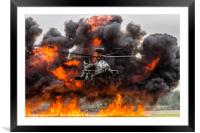 Boeing AH-64 Apache Longbow Attack Helicopter, Framed Mounted Print