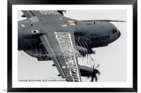 The Airbus A400M Atlas, Framed Mounted Print