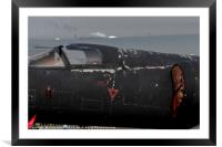 A well weathered cockpit on U-2 Dragon Lady, Framed Mounted Print