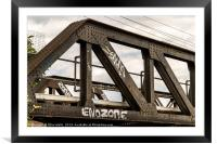 Railway bridge, Framed Mounted Print