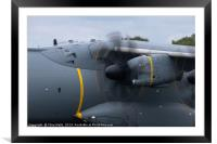 Engine of the Airbus A400M, Framed Mounted Print