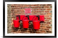 Fire buckets, Framed Mounted Print