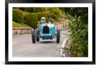 Bugatti Type35B at Circuit des Remparts, Framed Mounted Print