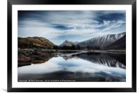 Wispy clouds over Loch Etive., Framed Mounted Print