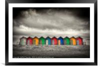 Blyth Beach Huts No. 3, Framed Mounted Print