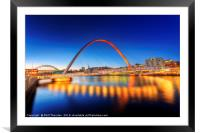 Gateshead Millennium Bridge No.3, Framed Mounted Print