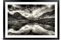 The Cuillin ridge from Loch Coruisk, Framed Mounted Print