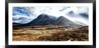 Storm clouds over Stob Dearg, Framed Mounted Print