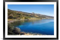 Blue skies over Dunn Caan, on the Isle of Raasay., Framed Mounted Print