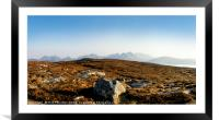 View from Dun Cann to the Isle of Skye., Framed Mounted Print