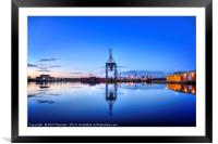 Dock yard industrial cityscape, Framed Mounted Print
