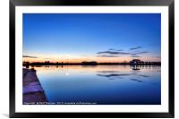 Dock yard industrial cityscape No.2, Framed Mounted Print
