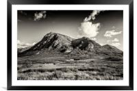 Dramatic skies over over Stob Dearg, Framed Mounted Print