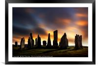 Sunset over the  Callanish Standing Stones, Framed Mounted Print