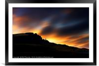 Sunsetting over The Old Man of Storr No.3, Framed Mounted Print