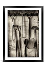 Traditional tools series No. 4, Framed Mounted Print