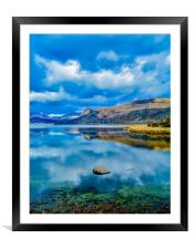 Reflections on Derwent Water, Framed Mounted Print