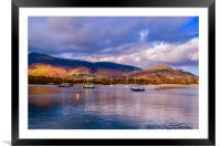 Derwent Water at Dusk, Framed Mounted Print